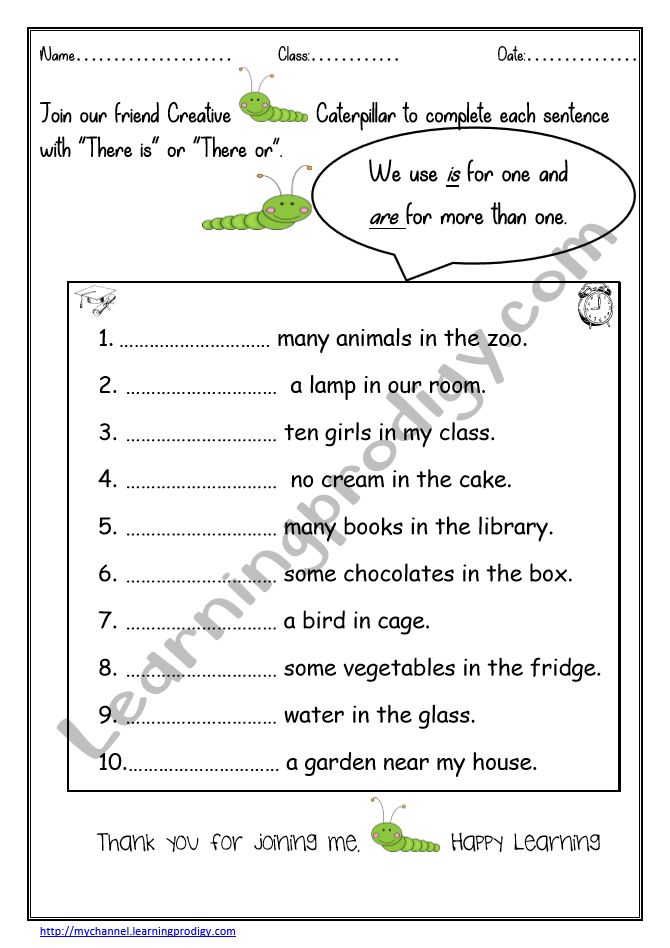 English Worksheets For Grade1 Archives Learningprodigy