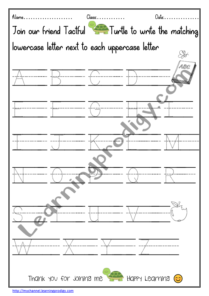 Nursery Alphabet Worksheets Archives LearningProdigy